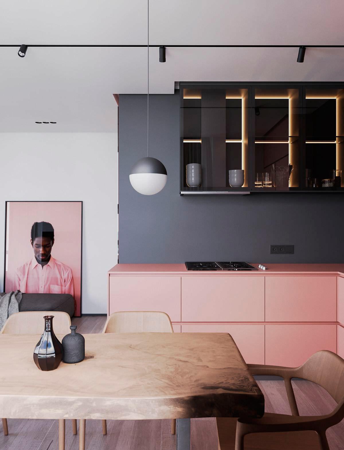 cocina-rosa-negro